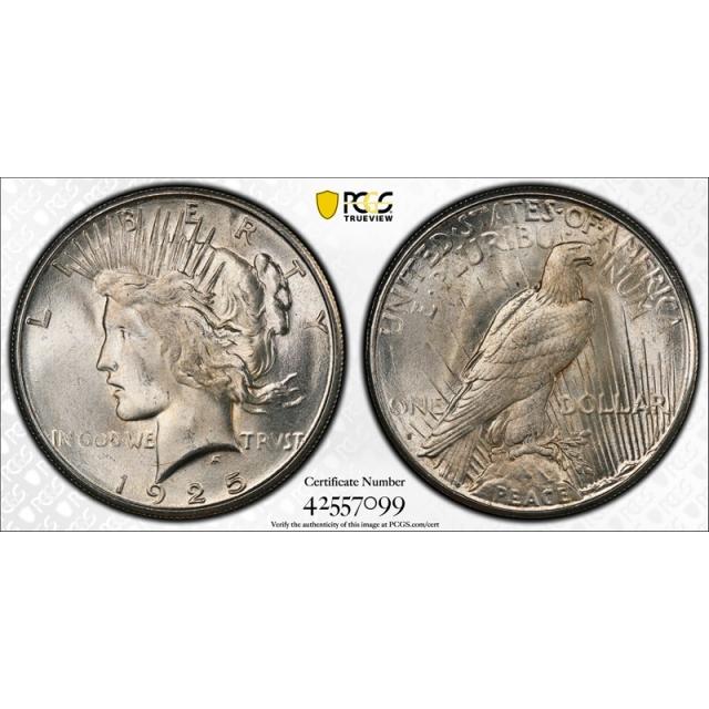 1925 S $1 Peace Dollar PCGS MS 64 Uncirculated Better Date Tough Grade !