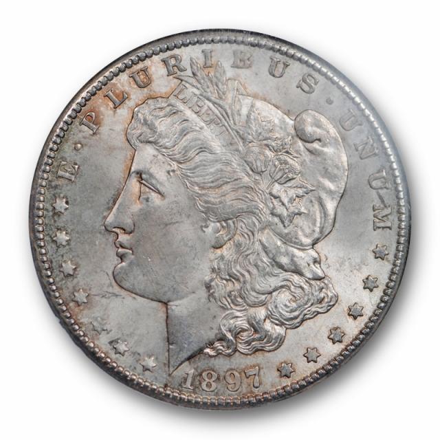 1897 S $1 Morgan Dollar NGC MS 64 Uncirculated Crusty Original Toned Better Date
