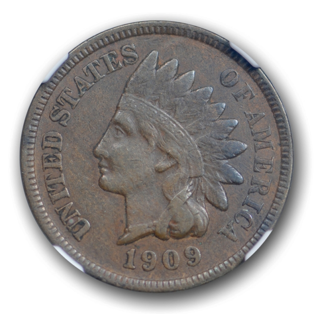 1909 S 1c Indian Head Cent NGC XF 40 Extra Fine San Francisco Mint Key Date