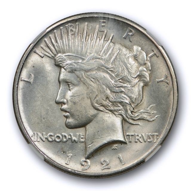 1921 $1 Peace Dollar High Relief NGC MS 63 Uncirculated Key Date Tough Cert#0001