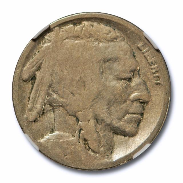 1916 Double Die Obverse 5c Buffalo Head Nickel 1916/16 DDO NGC G 4 Good Tough