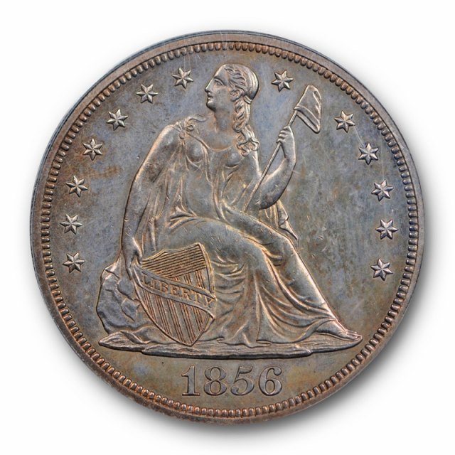 1856 $1 Seated Liberty Dollar PCGS PR 62 Proof OGH Undergraded?  Key Date Old Holder