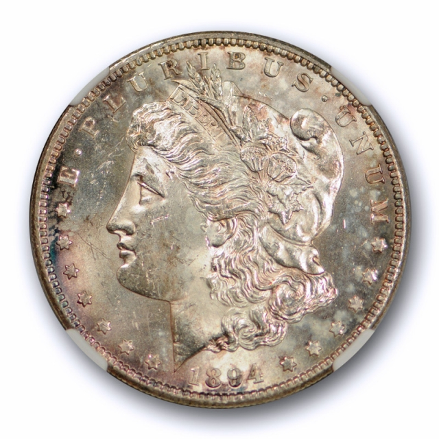 1894 S $1 Morgan Dollar NGC MS 64 Uncirculated Exceptional Strike Toned Tough !