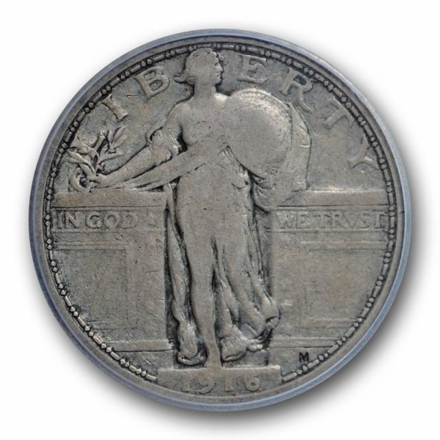 1916 25C Standing Liberty Quarter ICG VG 10 Very Good to Fine Key Date Original !