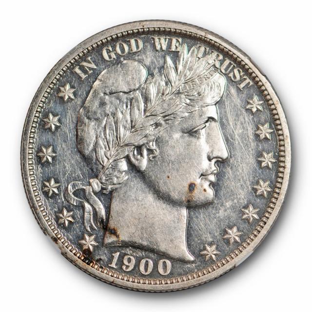 1900 Proof Barber Half Dollar 50C NGC PF 58 PR Low Mintage Circulated Proof