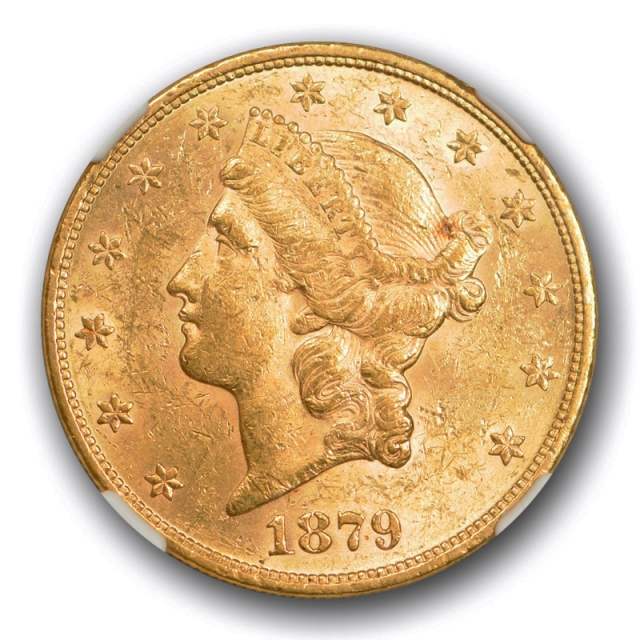1879 $20 Liberty Head Double Eagle Gold Piece NGC AU 55 About Uncirculated Tough Date !