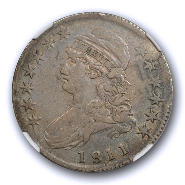 1811/10 50c Capped Bust Half Dollar NGC XF 45 Extra Fine to About Uncirculated 1811