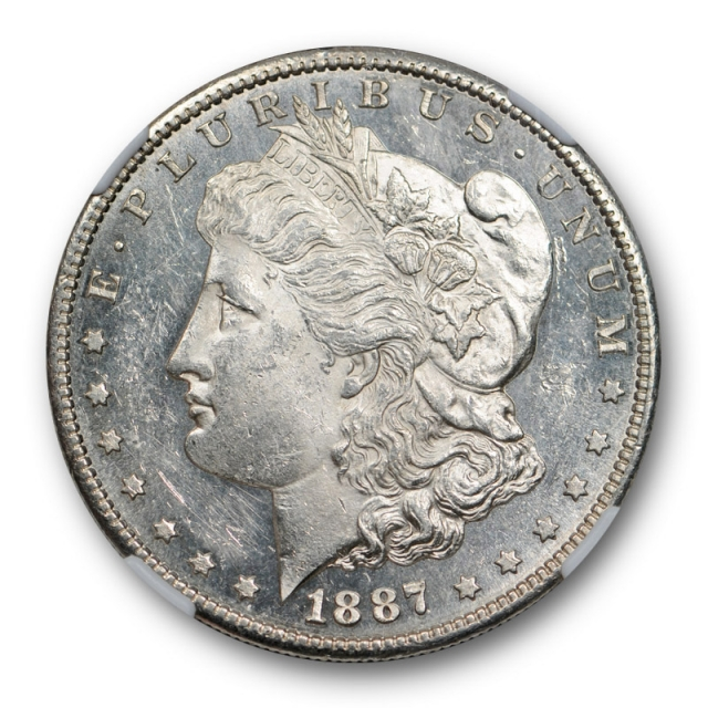 1887 S $1 Morgan Dollar NGC MS 61 PL Uncirculated Proof Like Tough in PL !