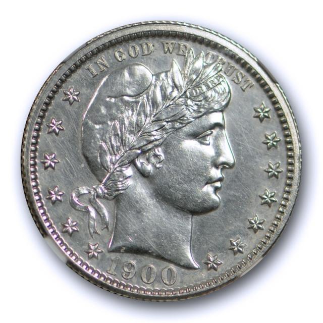 1900 25c Proof Barber Quarter NGC PF 61 PR Blast White Low Mintage US Coin