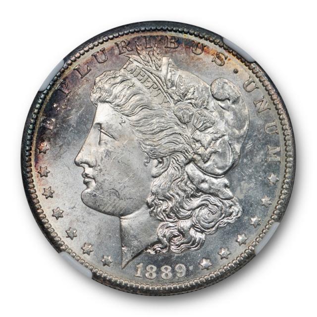 1889 S $1 Morgan Dollar NGC MS 63 Uncirculated Flashy Coin ! Toned Nice !