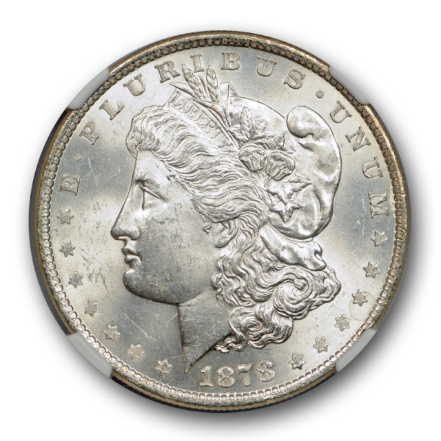 1878 8TF $1 Morgan Dollar NGC MS 63 Uncirculated CAC Approved Blast White Nice !