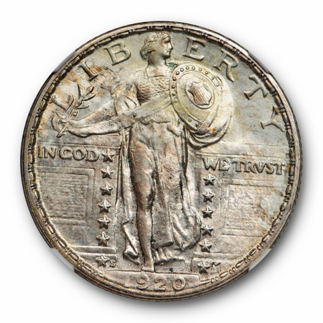 1920 S Standing Liberty Quarter NGC MS 62 Uncirculated Full Head ! FH Not Designated