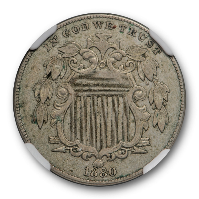 1880 5c Proof Shield Nickel NGC PF / PR 50 About Uncirculated  Circulated Proof ? Key Date