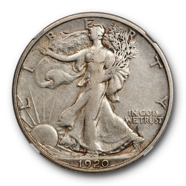 1920 S 50c Walking Liberty Half Dollar NGC XF 45 Extra Fine to AU Better Date