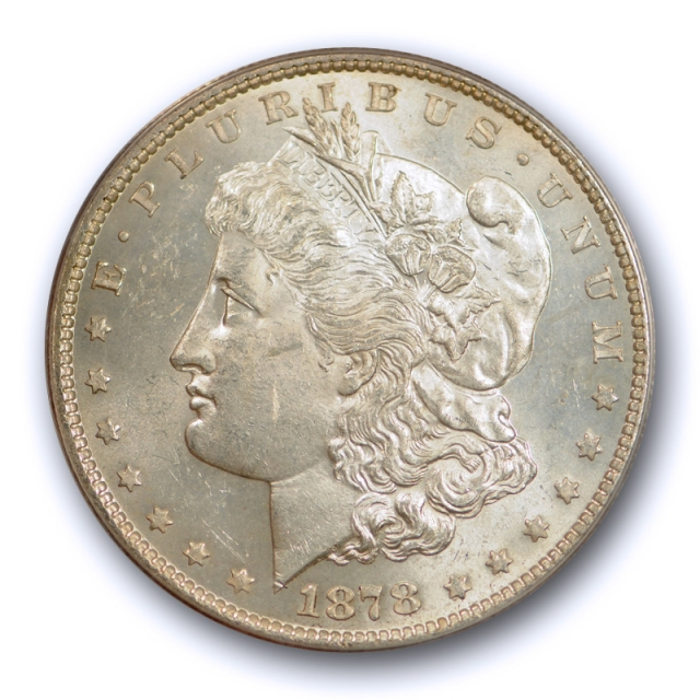 1878 7TF $1Reverse of 1878 Morgan Dollar ANACS MS 62 Uncirculated Lightly Toned