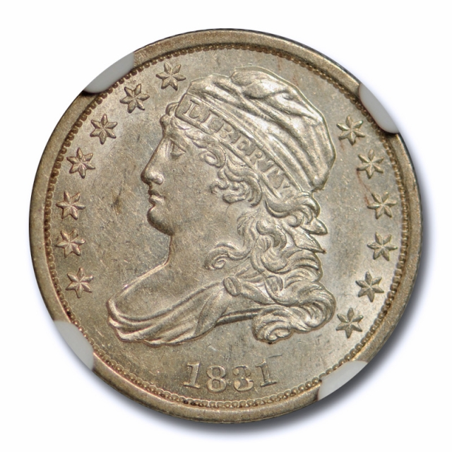 1831 10c Capped Bust Dime NGC MS 61 Uncirculated Early US Type Coin Attractive !