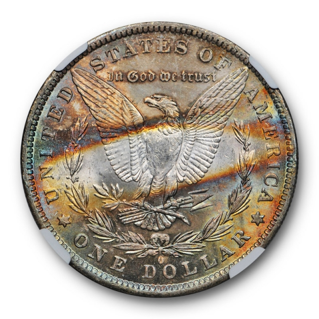 1883 O $1 Morgan Dollar NGC MS 63 Uncirculated Attractively Toned Colorful Pretty