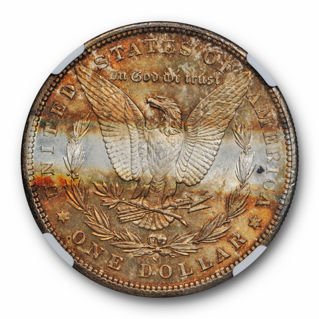 1881 S $1 Morgan Dollar NGC MS Uncirculated Detailed Cleaned Toned Unique Coin