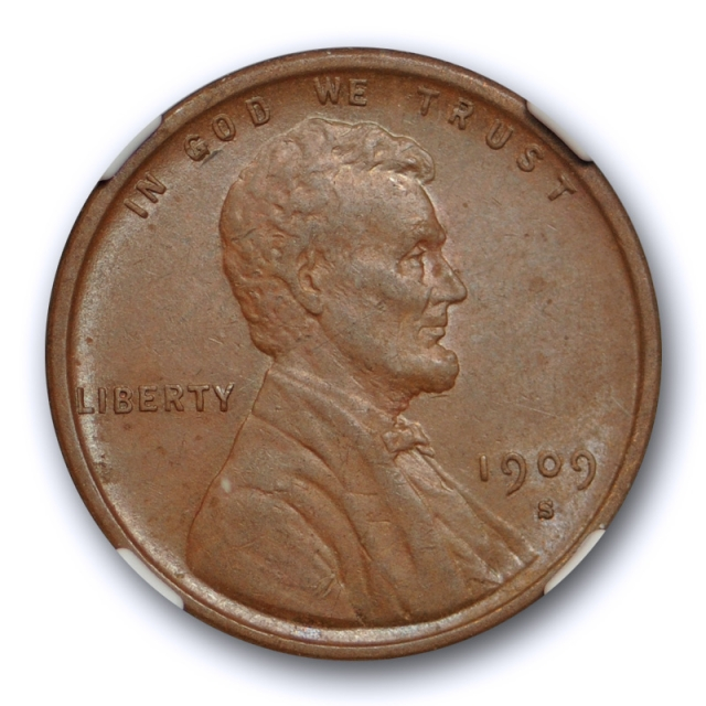 1909 S VDB 1c Lincoln Wheat Cent NGC AU 55 BN About Uncirculated Key Date Tough !