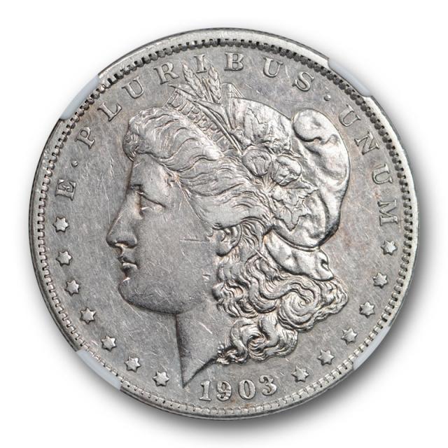 1903 S Micro S Morgan Dollar VAM 2 Small S NGC XF 45 Extra Fine Looks AU !