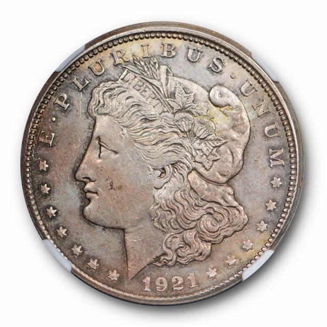 1921 S Morgan Dollar $1 NGC AU 58 Partial Collar Mint Error US Coin