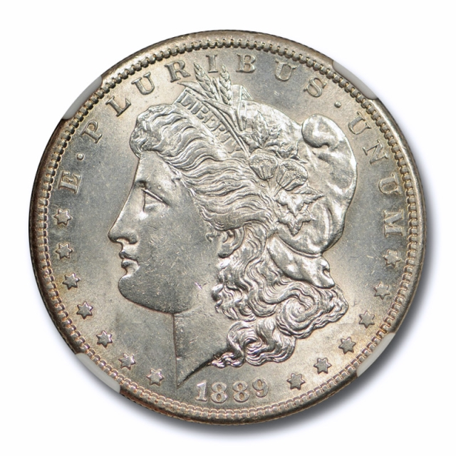 1889 S $1 Morgan Dollar NGC AU 58 About Uncirculated Better Date Sharp Strike