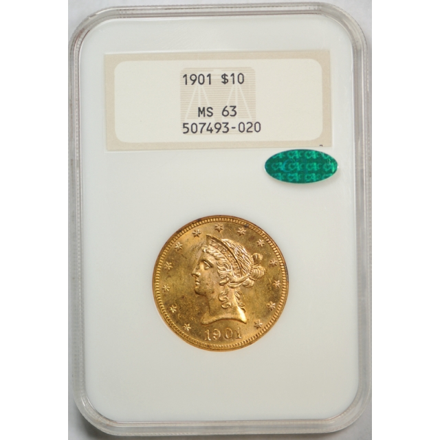 1901 $10 Liberty Head Eagle Gold Piece NGC MS 63 Old Fatty Looks PL ! ?