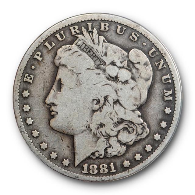 1881 CC $1 Morgan Dollar ANACS VG 8 Very Good Carson City Mint Circulated