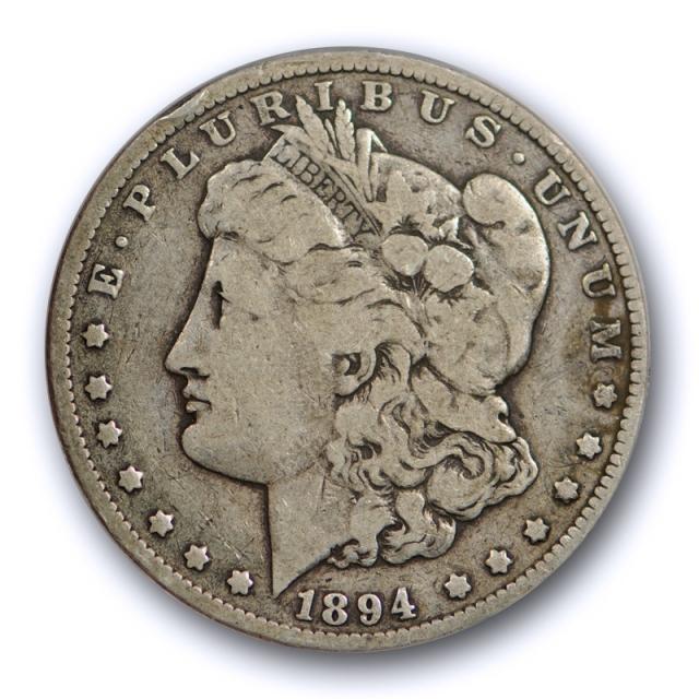 1894 $1 Morgan Dollar ANACS VG 8 Very Good Key Date Original Toned Tough !