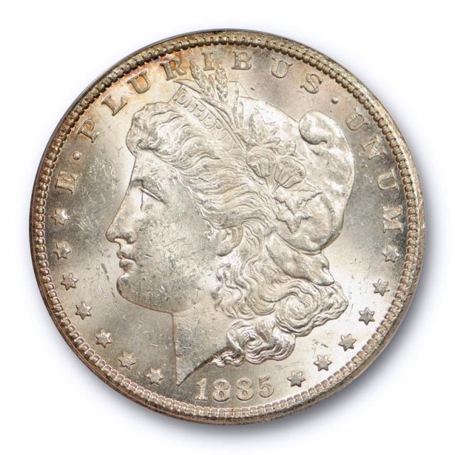 1885 CC $1 Morgan Dollar ANACS MS 62 Uncirculated Carson City Mint Original