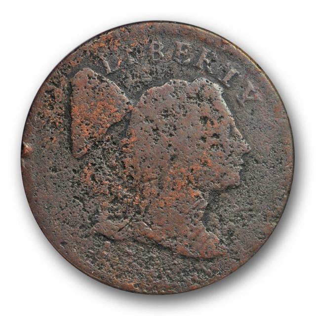 1795 1C Liberty Cap Large Cent ANACS Poor 1 PO 01 Low Ball Filler Grade
