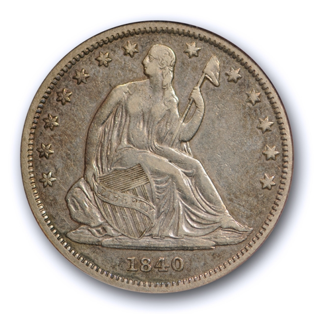 1840 50C Seated Liberty Half Dollar ANACS EF 40 Extra Fine XF Small Letter Old Holder