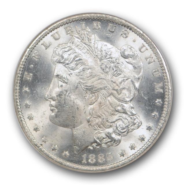 1885 CC $1 Morgan Dollar NGC MS 62 Uncirculated Carson City Mint White Coin