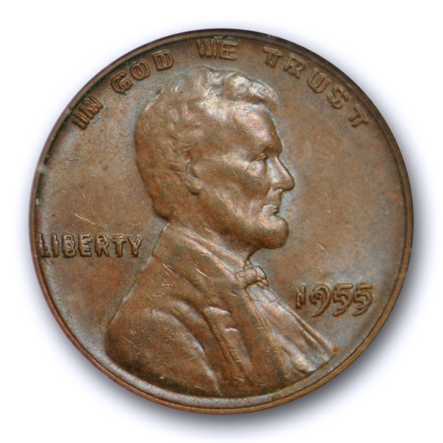 1955 Double Die Obverse Lincoln Cent NGC MS 63 BN 1955/1955 DDO CAC Approved !