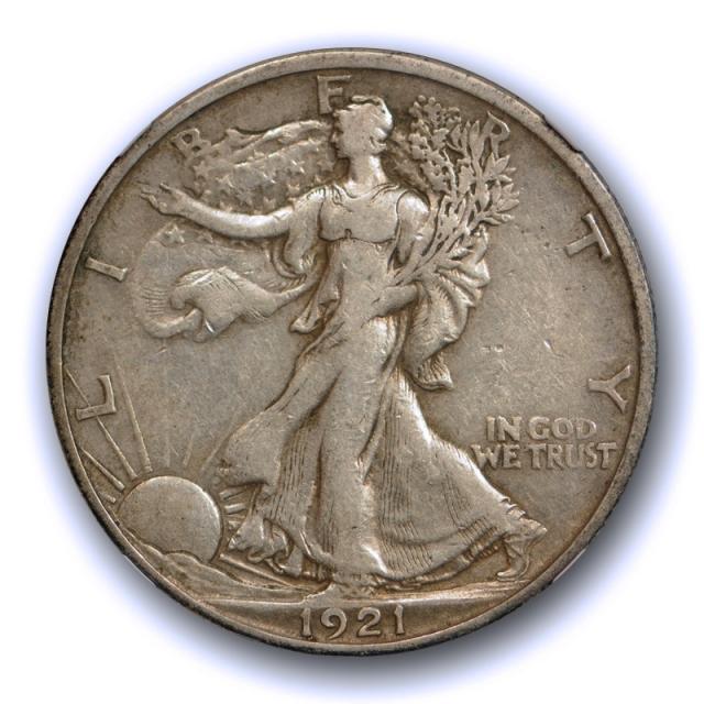 1921 S 50c Walking Liberty Half Dollar NGC XF 40 Extra Fine Tough Grade / Date Nice !
