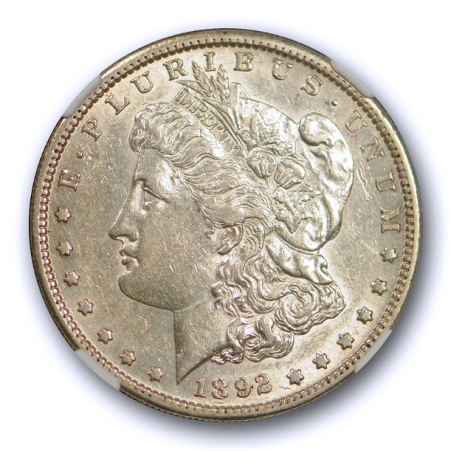 1892 S $1 Morgan Dollar NGC AU 53 About Uncirculated To Mint State Tough Coin !