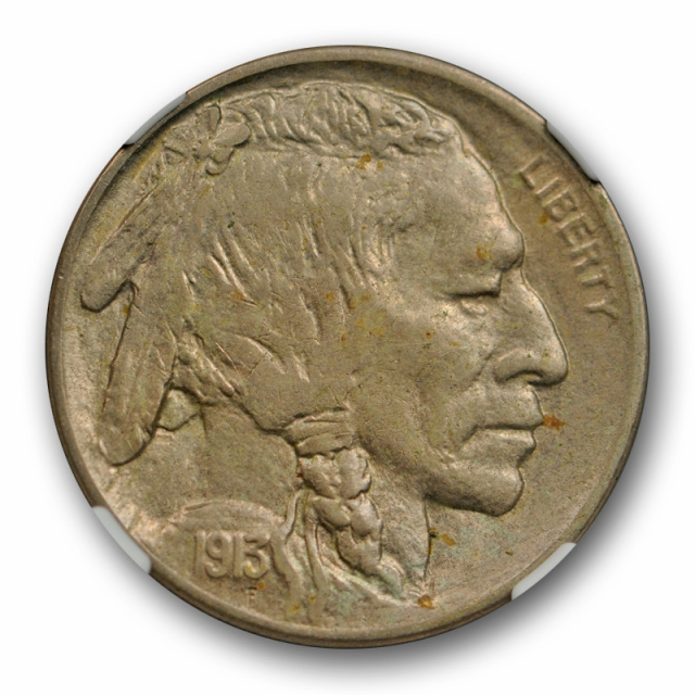1913 D 5c Buffalo Head Nickel NGC AU 58 About Uncirculated Ty 2 Type Two Cert#3015