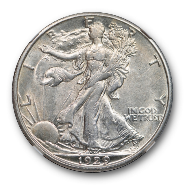 1929 D 50c Walking Liberty Half Dollar NGC AU 55 About Uncirculated to MS