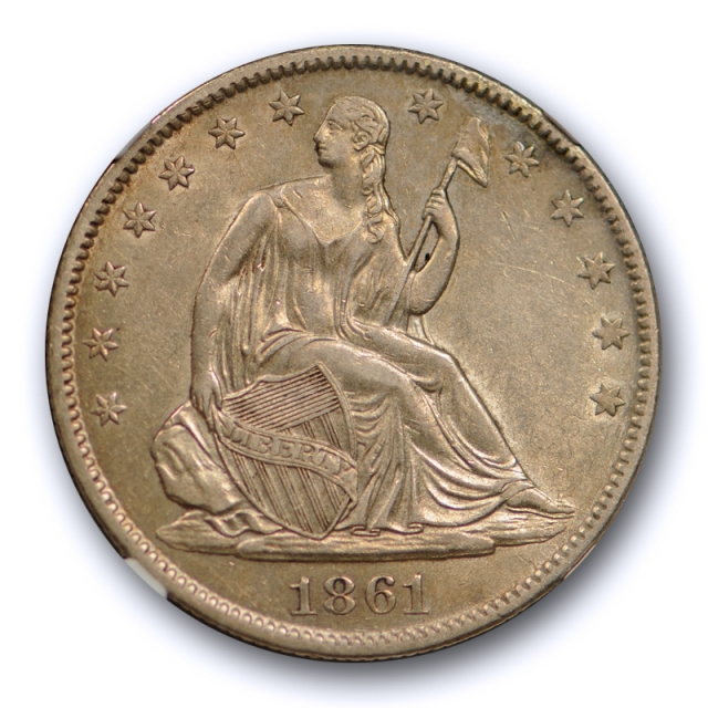 1861 O 50c Seated Liberty Half Dollar NGC AU 58 About Uncirculated CAC Approved