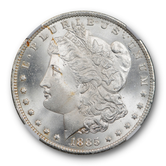 1885 O $1 Morgan Dollar NGC MS 67 Uncirculated Lustrous ! Mostly Blast White