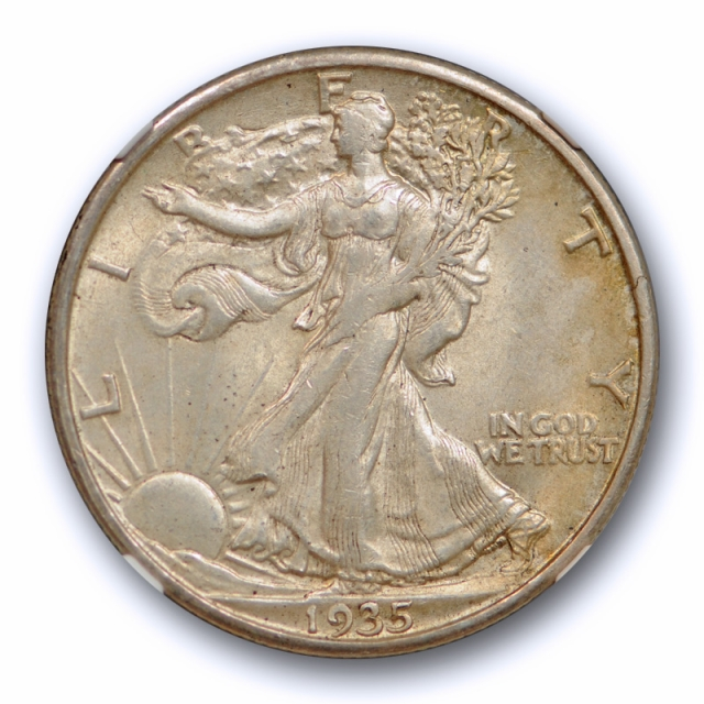 1935 S 50c Walking Liberty Half Dollar NGC MS 62 Uncirculated Better Date
