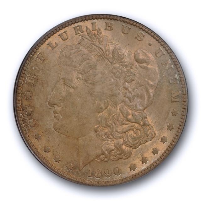 1890 S $1 Morgan Dollar PCGS MS 63 Uncirculated Crusty Original Toned Better Date
