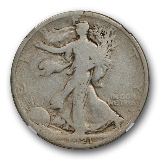 1921 Walking Liberty Half Dollar 50C NGC G 6 Good to Very Good Key Date P Mint Cert#1010