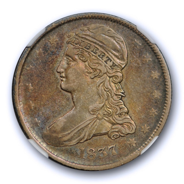 1837 50c Capped Bust Half Dollar NGC XF 45 Extra Fine to About Uncirculated