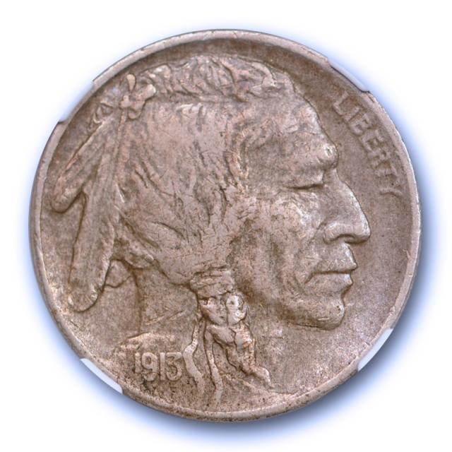 1913 S 5c Buffalo Head Nickel NGC XF 40 Extra Fine Full Sharp Horn Key Date Original