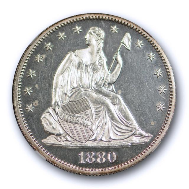 1880 50c Seated Liberty Half Dollar 50C NGC PF PR 63 Proof Cameo? Stunning Coin !