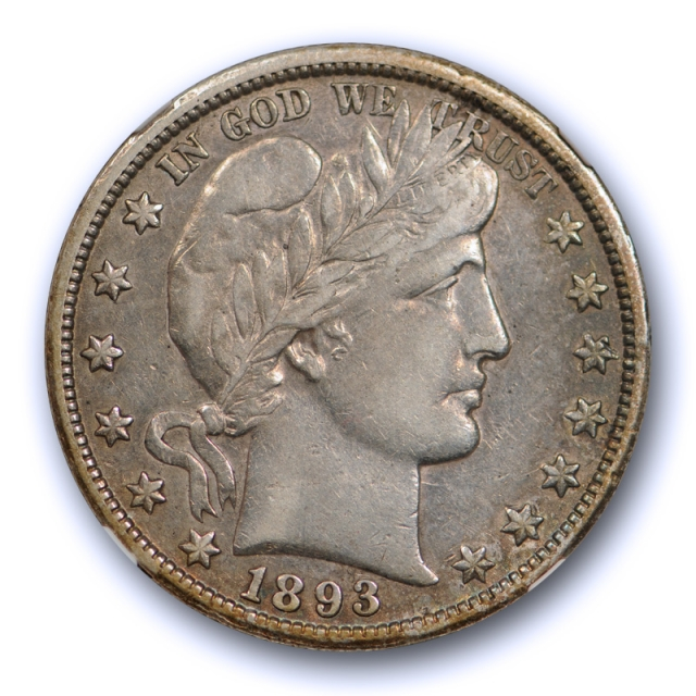 1893 O 50c Barber Half Dollar NGC VF 30 Very Fine to Extra Fine Better Date Tough Grade