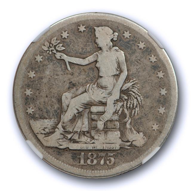 1875 $1 Trade Dollar NGC VG 8 Very Good Key Date Philadelphia P Mint Key Date