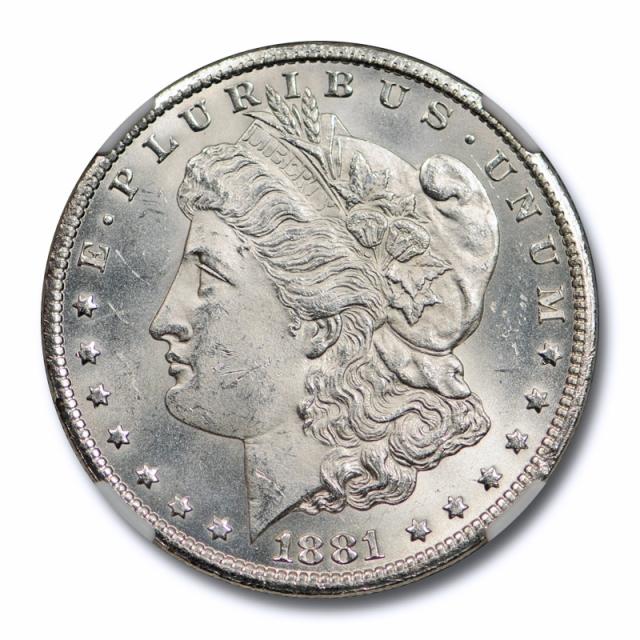 1881 CC $1 Morgan Dollar NGC MS 62 Uncirculated Exceptional Strike Sharp !