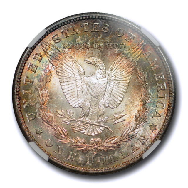 1883 S $1 Morgan Dollar NGC MS 61 Uncirculated Colorful Toned Beauty !